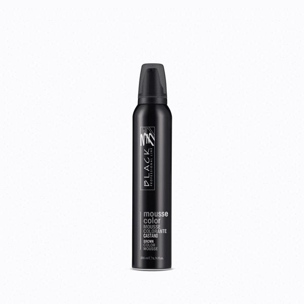 black professional line colouring mousse colour castano 200ml
