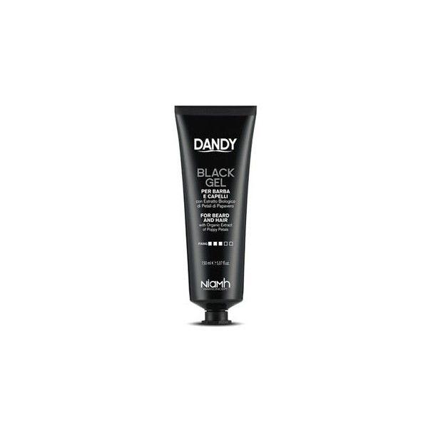 dandy gel negro para barba y cabello gris