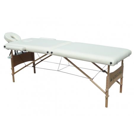 camilla fisioterapia plegable reposacabezas portatil madera 186x60 cm crema light mobiclinic1